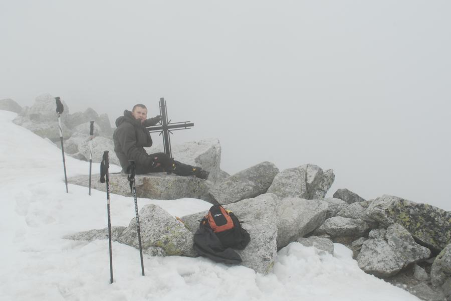 Krzyż na szczycie Sławkowskiego Szczytu